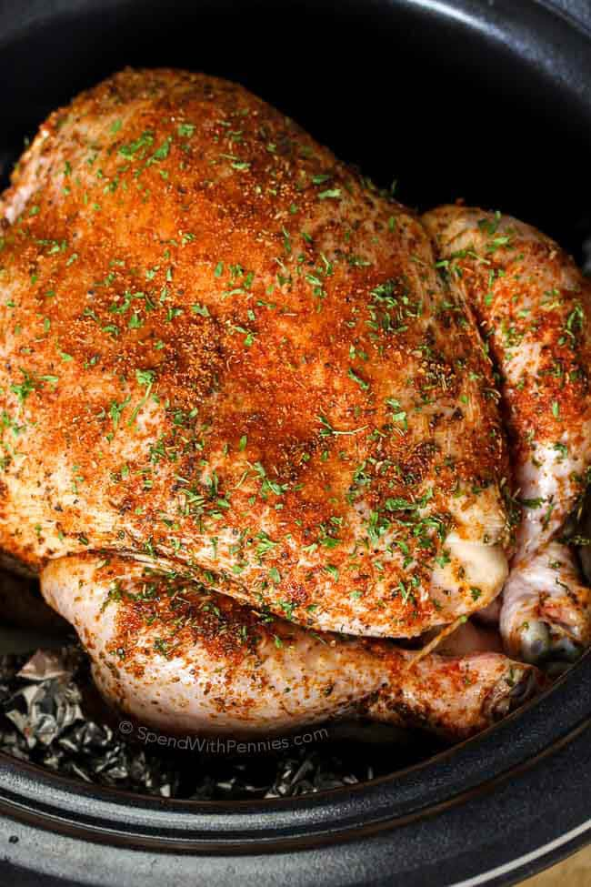 Slow Cooker Whole Chicken & Gravy