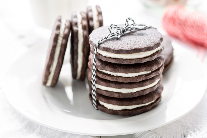 Chocolate Sugar Cookies (Homemade Oreos)