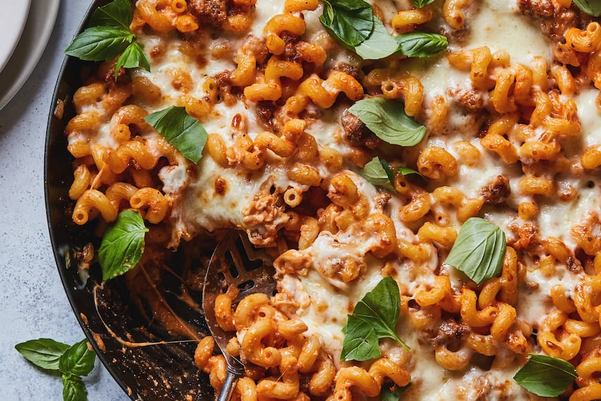 Italian Mac and Cheese Bake