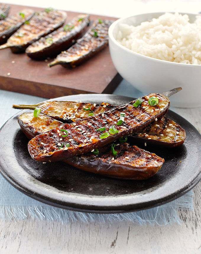 Grilled Miso Glazed Japanese Eggplant