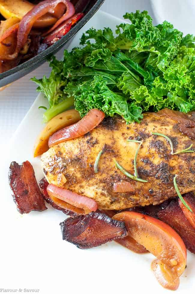 One-Pan Spiced Chicken with Apples and Bacon