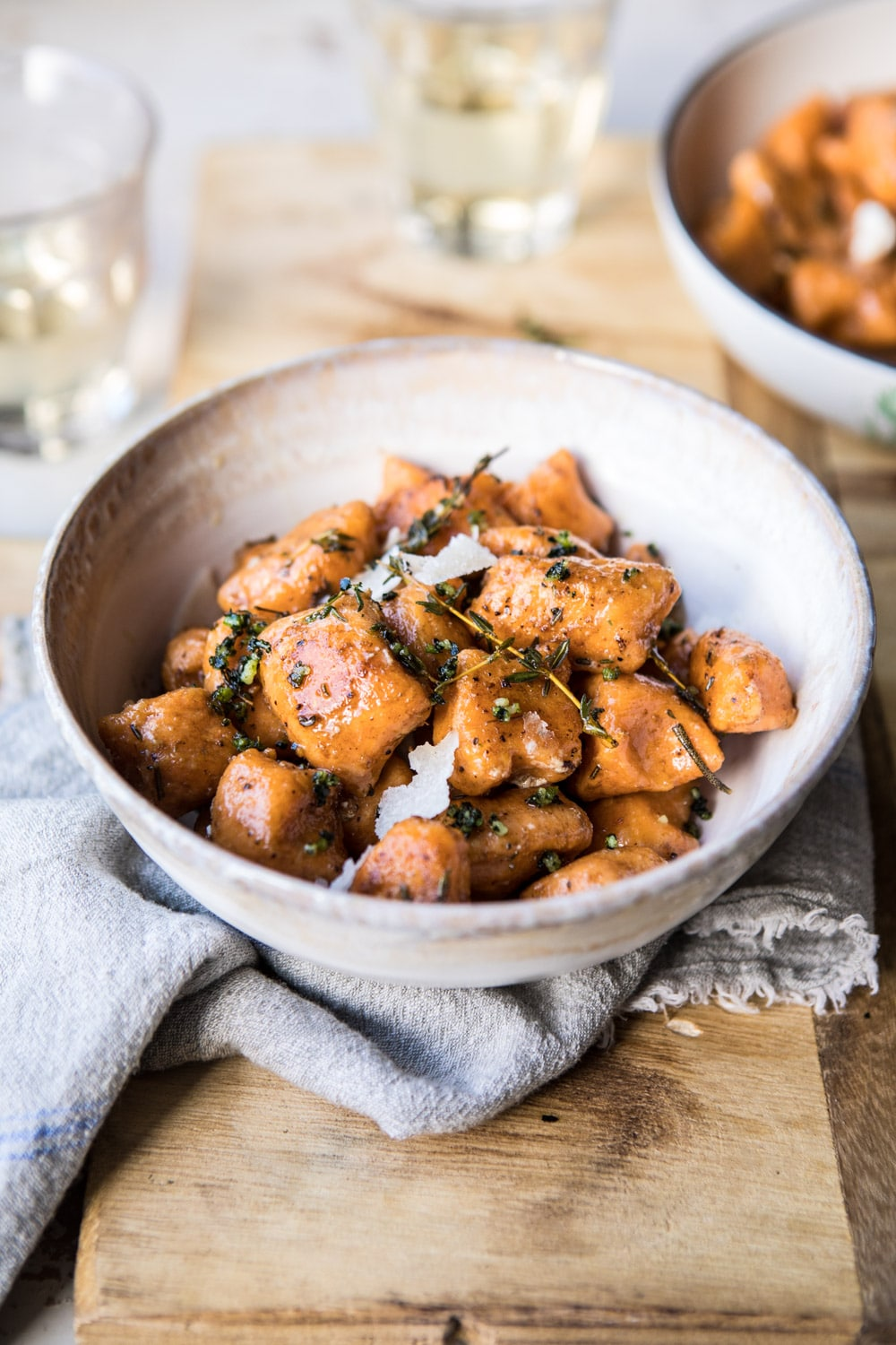 Sweet Potato Gnocchi with Herbed White Wine Pan Sauce