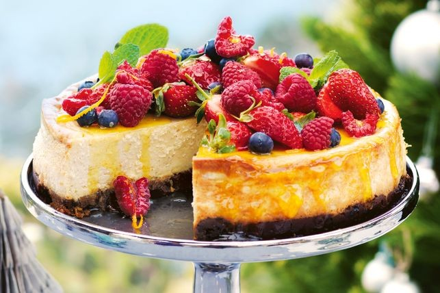Baked fruitcake cheesecake recipe