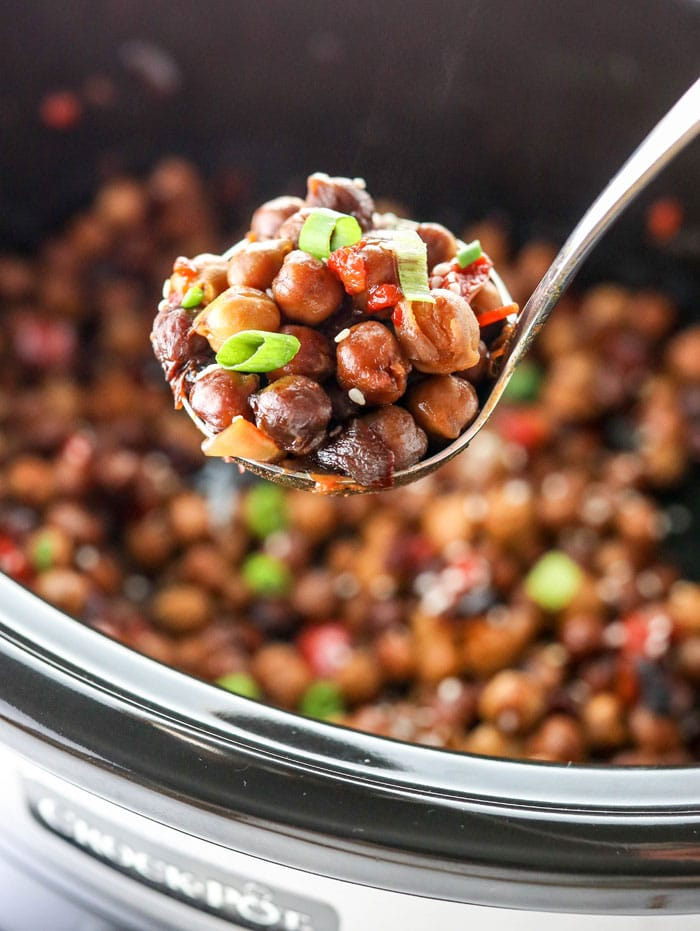 Kung Pao Chickpeas (in a Slow Cooker!) -video