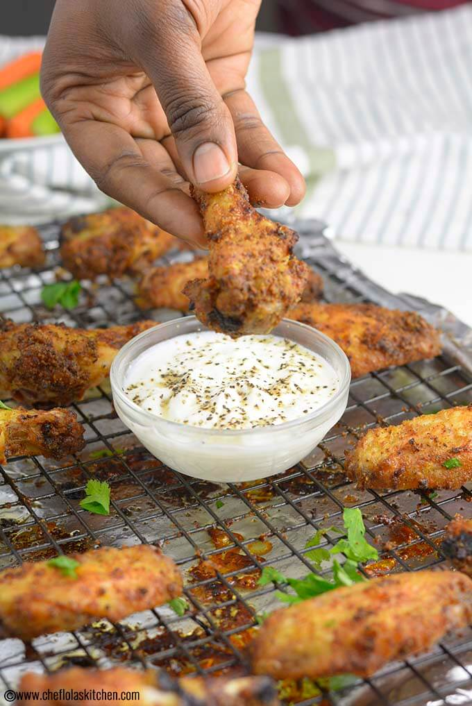 Dry Rub Baked Chicken Wings