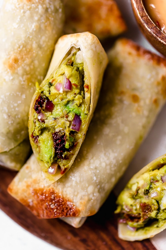 Avocado Egg Rolls with Sweet and Spicy Dipping Sauce
