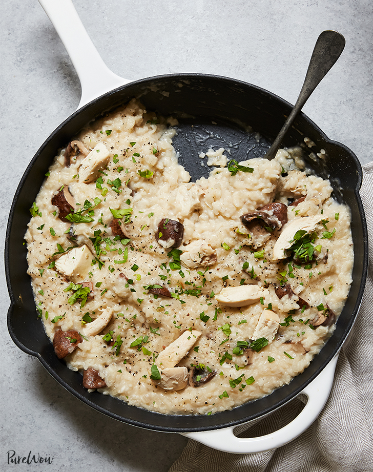 Baked Chicken and Mushroom Risotto