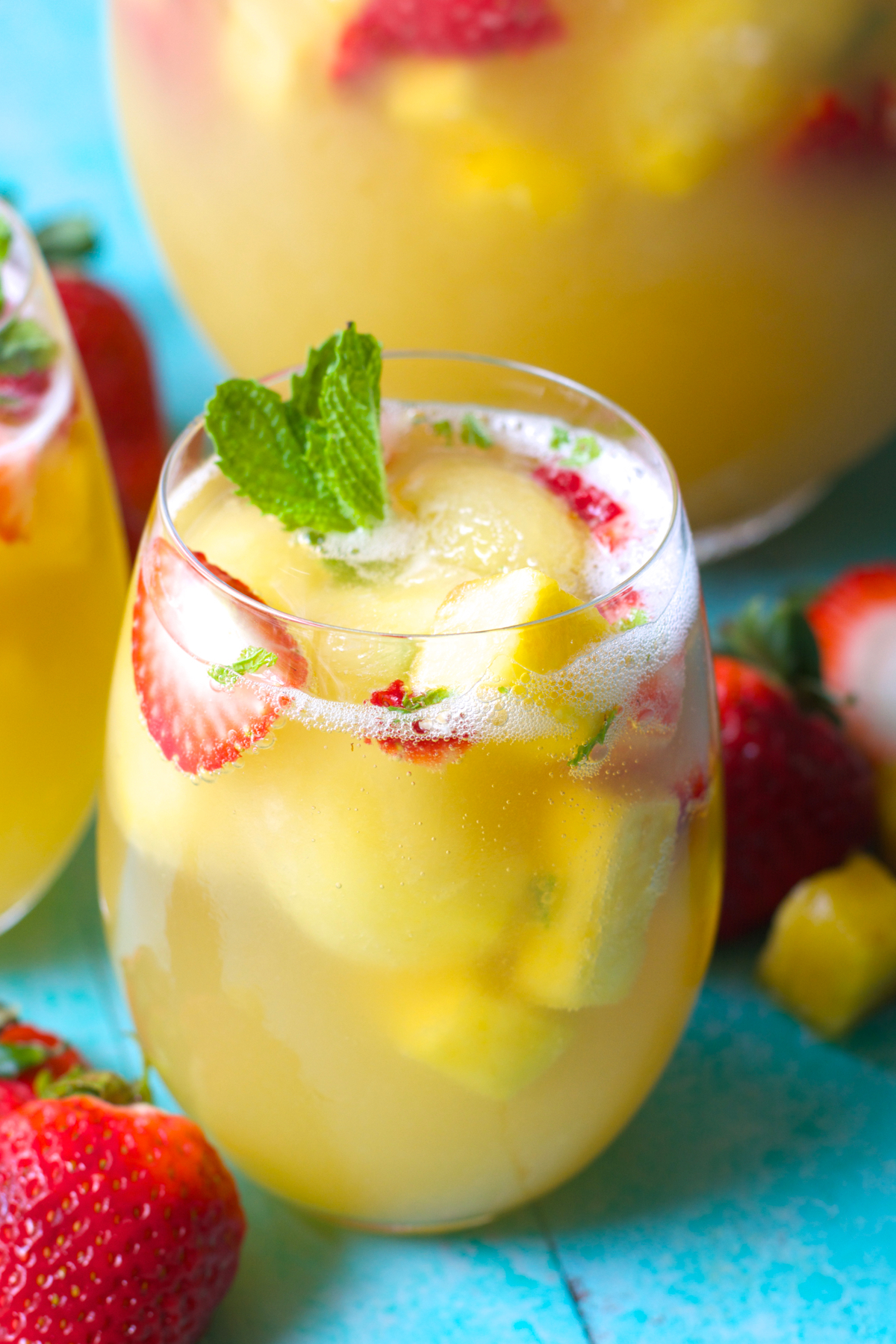 Sparkling Pineapple Strawberry Punch